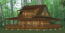 24x24 House -- 3 Bedroom -- 3 Bath  1,076 sq ft -- PDF Floor Plan -- Model 3A