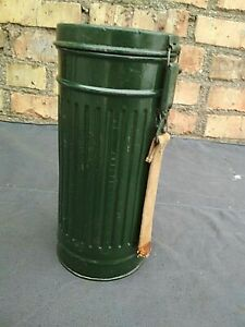 Original-Military-German-Gas-Mask-Container-Box-Canister-WW2