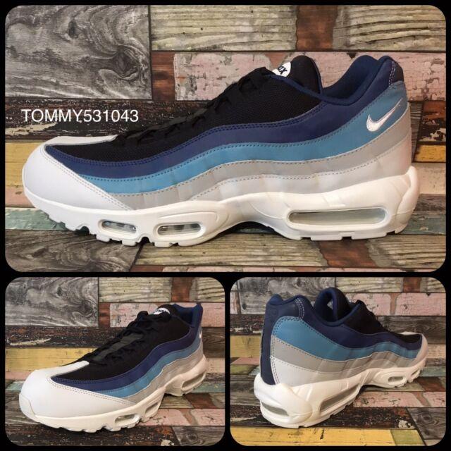 cfc3c280977 Nike Air Max 95 Essential Trainers Grey Blue UK 14 EUR 49.5 US 15 - 749766  026