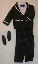 Barbie Tagged KEN 2pc TUXEDO DRESS UP Set with Silver for Play~Display~OOAK