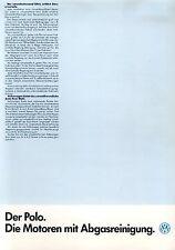 VW Polo Prospekt Technische Daten 1 86 car brochure 1986 Auto PKWs Autoprospekt