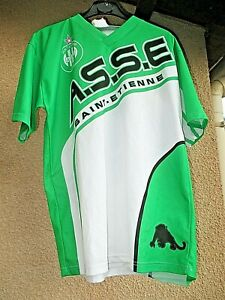 Maillot-de-football-ASSE-Saint-Etienne-panthere-taille-XS-made-in-France