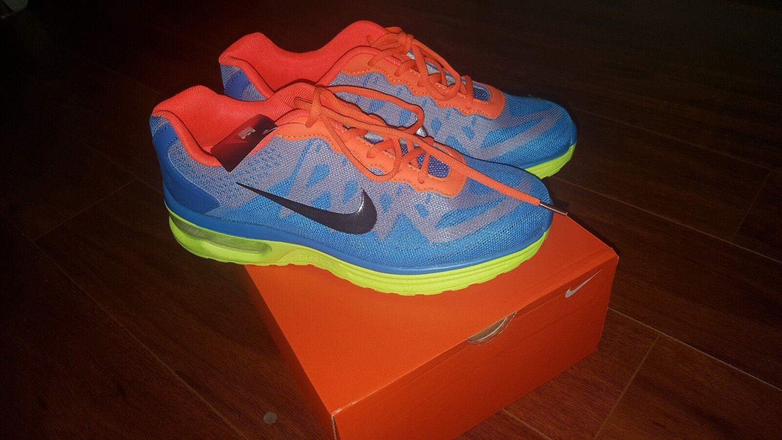 c53786e105 Nike Air blueE orange Men's size 9.5 New NEON Max nocdbz4867-Athletic Shoes