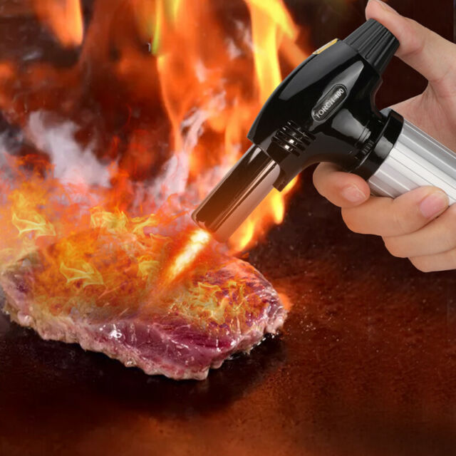 Micro Refillable Butane Gas Lighter Torch Charcoal BBQ Lighter Tool Windproof