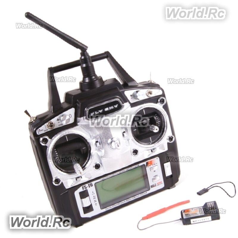 FlySky FS-T6 AFHDS 2.4GHz 6CH Radio Trasmettitore & Ricevitore FS-R6B PER GIOCATTOLI RC