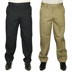 MENS-BIG-SIZE-TROUSER-EXPANDA-CHINO-CARABOU-IN-BEIGE-amp-NAVY-DESIGNER-32-54