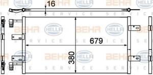 climatisation 8fc351303-591 Pour Nissan Opel Renault Hella Condenseur