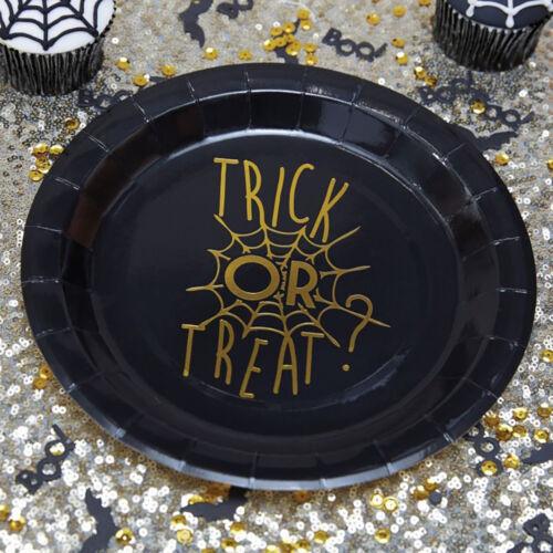Pappteller Trick or Treat 8 Stk Halloween Partyteller Partygeschirr Partydeko