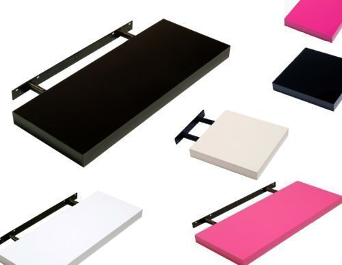 Small & Medium Hudson High Gloss Floating Shelf Wall Display Home Shelving Kit