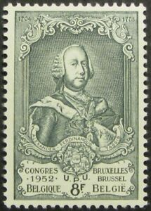 BELGIUM-443-F-VF-MH-8fr-034-Prince-Ferdinand-034-from-the-13th-UPU-Congress-issue