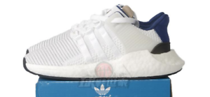 New adidas Mens EQT Support 93 17 Primeknit Boost B20592 Running bluee White shoes