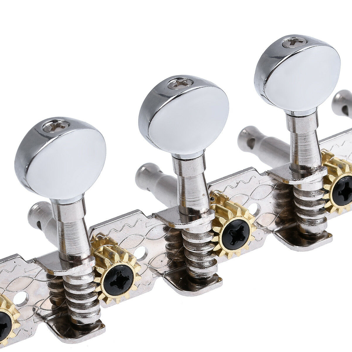 chrome guitar tuning pegs keys machine heads for 12 string acoustic parts 6l6r 634458685832 ebay. Black Bedroom Furniture Sets. Home Design Ideas