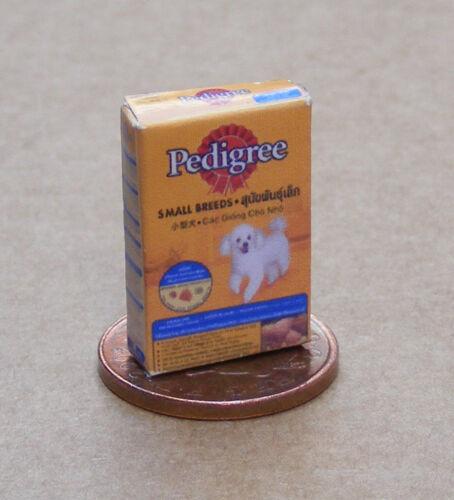 1:12 Scale Empty Dogs Food Packet tumdee Dolls House Miniature Pet Pedigree