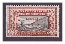 ERITREA 1924 - MANZONI  50  CENTESIMI   NUOVO *