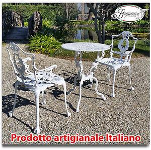 Tavoli Da Giardino In Ghisa.Tavolo E Sedie Da Giardino E Casa In Alluminio Bianco E Grigio Ghisa