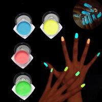 Fluorescence Effect Ultrafine Nail Glitter Luminous Nails Powder Manicure Decor