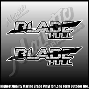 BLADE HULL -  QUINTREX - 250mm X 70mm X 2 - BOAT DECALS