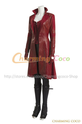 Captain America 3 Civil War Scarlet Witch Cosplay Costume Women Uniform Outfit