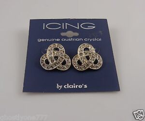 Icing-sensitive-solutions-silver-tone-earrings-bling-Austrian-crystals-post