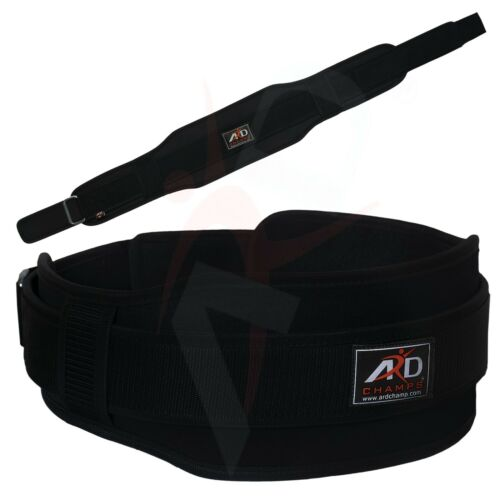 "ARD CHAMPS™ Neoprene Weight Lifting Belt Back Support Gym Belts 5/"" Wide Black"