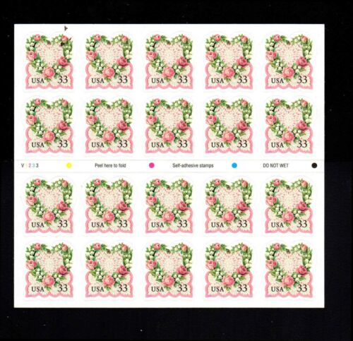 # 3274 Victorian Love 33¢ Pane of 20 1999 MNH Wedding Marriage Proposal Stamps