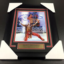 SHAWN MICHAELS HBK WWE WWF FRAMED 8x10 PHOTO AUTOGRAPHED WRESTLEMANIA