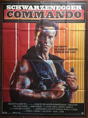 40x60 cm COMMANDO Affiche de film Arnold Schwarzenegger - 1985 Mark Lester