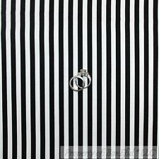 BonEful Fabric FQ Cotton Quilt VTG Black White B&W STRIPE Xmas Valentine Holiday