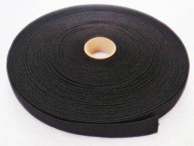 25 Meter Gummiband 15 mm weiß , schwarz