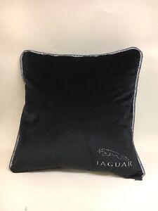 Black-Velour-Jaguar-17-Cushion-Cover-With-Fibre-Filled-Inner-Brand-New