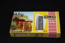 W055 FALLER Train Maquette Ho 5470 3 pile pont Brücken Pfeiler Bausatz 12 cm