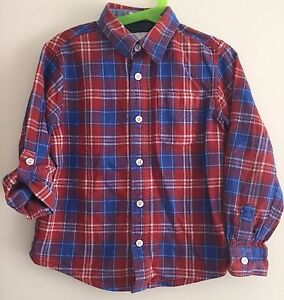 Boys-Checked-Fat-Face-Shirt-Size-6-Years