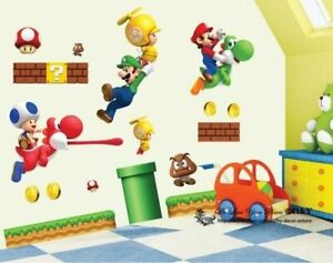 Super-Mario-Kids-Nursery-Removable-Wall-Decal-Vinyl-Stickers-Art-Home-Decor
