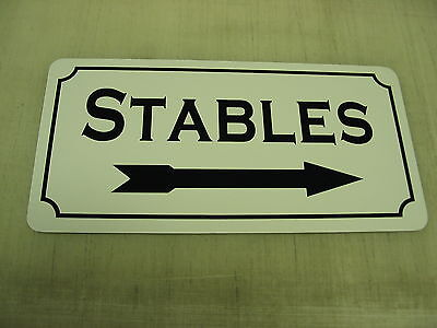 STABLES W// RIGHT ARROW Directional Sign 4 Horse Farm Ranch Barn Club Track Hay