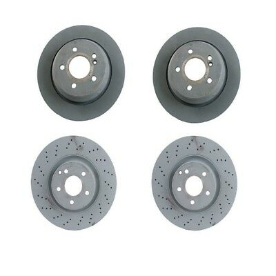 Front /& Rear Vented Disc Brake Rotors /& Pads KIT For Mercedes W221 S550 Meyle
