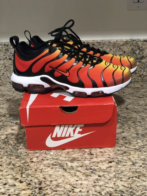 01c07bdfebd Nike Air Max Plus TN Ultra Black Team Orange Tour Yellow Sunset Tiger  898015 004