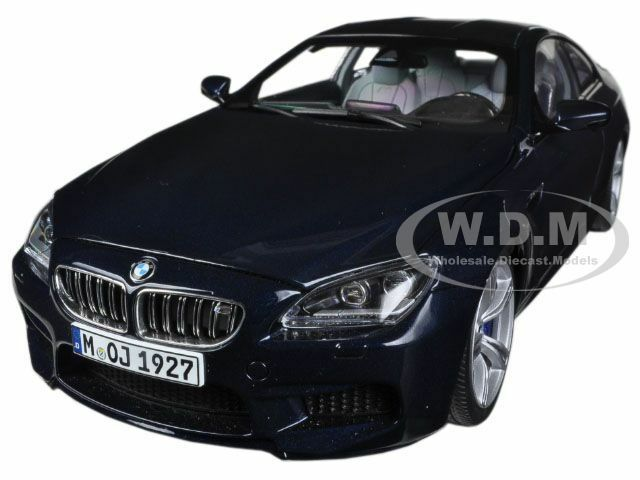 Bmw m6 coupé f13m imperial blau 1   18 nein auto - modell von paragon 97052