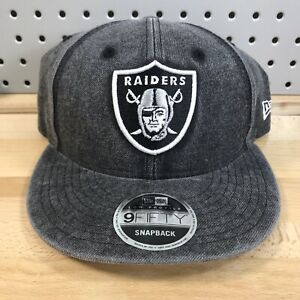 Oakland-Raiders-NFL-Football-New-Era-Low-Profile-9FIFTY-Snap-Back-Cap-EUC-Hat