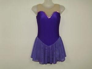 Skating Dresses-girls Ice/ Dance/skate Costume Ladies Xsmall New Ds Designs Sporting Goods