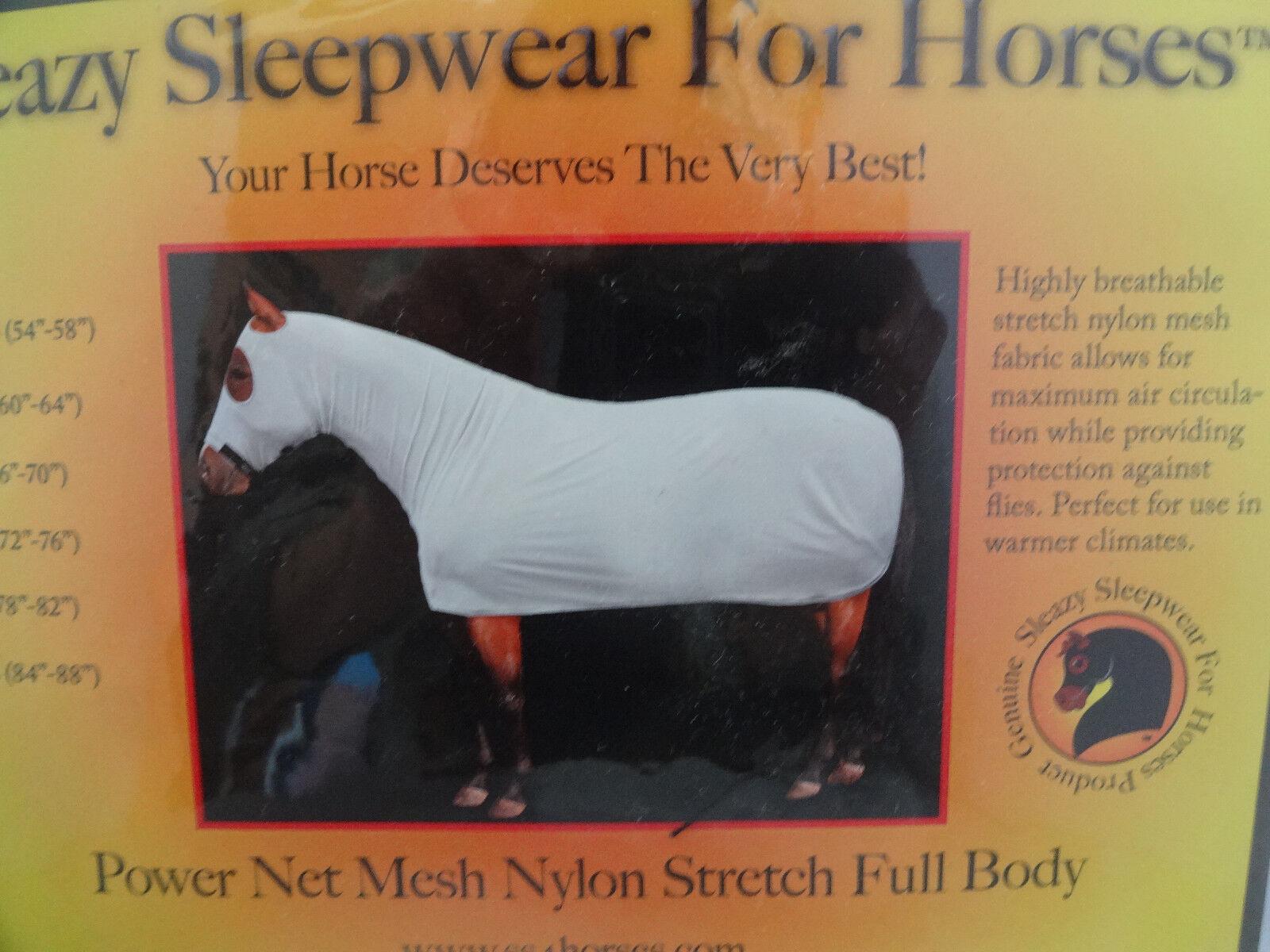 New Sleazy Sleepwear Full Body Horse Zipper Power Net Mesh Fly Nylon Sheet Hood