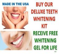 44% Peroxide Teeth Whitening Tooth Bleaching Whitener Oral Kit GEL FOR LIFE !