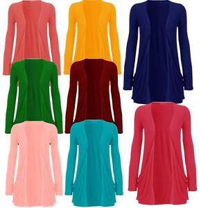 Ladies Long Sleeve Boyfriend Cardigan Womens Top 16 // 18 XL, Electric Blue