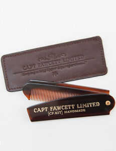 Captain-Fawcett-Folding-Pocket-Beard-Comb-CF-82T-82T-with-Leather-Case