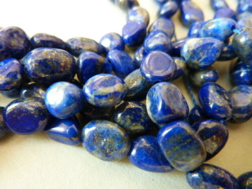 20 Lapis Gemme Perles Nuggets Bleu or 6-10 mm 2268