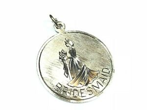 Signed-Round-925-Sterling-Silver-Bridesmaid-Necklace-Pendant-Unique-Style