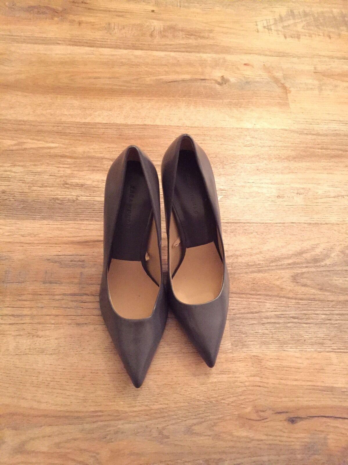 Zara Zapatos Tacón Alto Para Damas Damas Damas gris UK7 EU40  disfrutando de sus compras