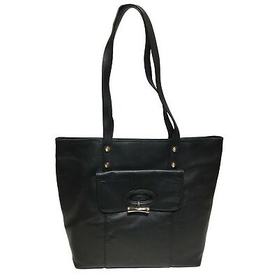 NWT Tommy Bahama Woman's Leather Tote, Black Color, MSRP: $248.00