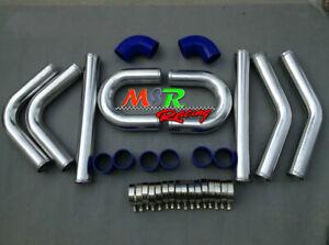 2-5-034-inch-64-mm-aluminum-universal-intercooler-turbo-piping-pipe-Kit-blue-hose