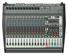 Behringer Europower PMP6000 20-channel 1600W Powered Mixer  NEW!