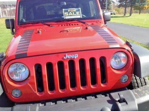 Jeep Wrangler Hood Strobe Strobes Faded stripes graphics decals stripes